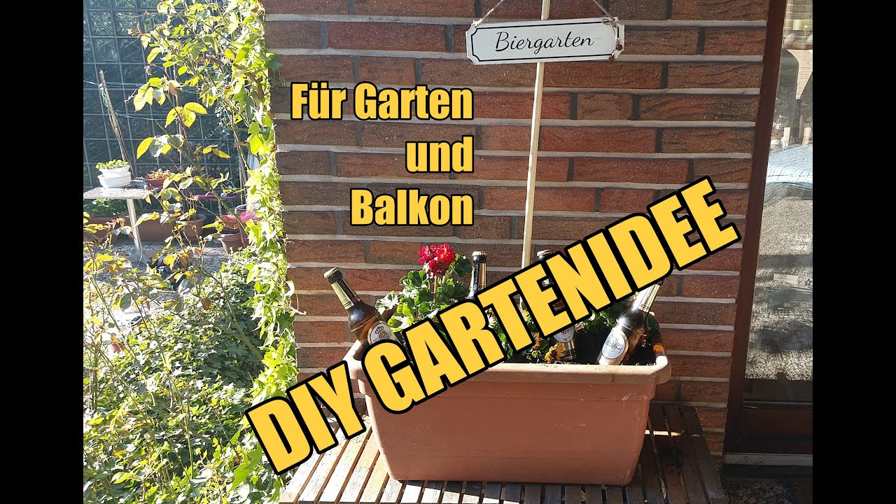 diy gartendeko biergarten selber machen garten balkon youtube. Black Bedroom Furniture Sets. Home Design Ideas