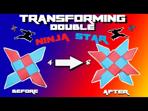 The Transforming Double Ninja Star! (Easy and Awesome)