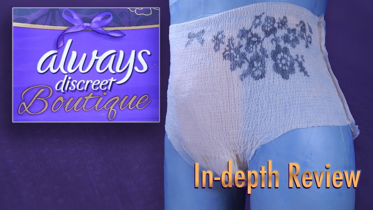 Always Discreet Boutique   In-Depth Review #incontinence #adultdiaper