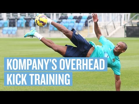Overhead Kick Training with Vincent Kompany