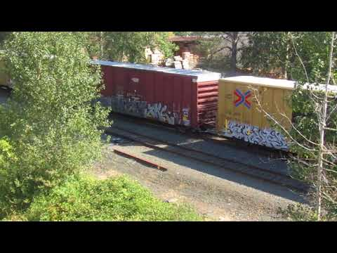 Union Pacific Freight Train Going Under Bill Frey Dr. in Salem, Oregon September 15th 2017