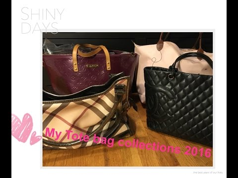 My tote bag collection   LV , Chanel, Longchamp and Burberry (ENG)