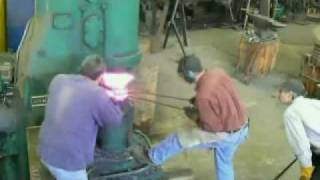 Forging a wrought iron anvil