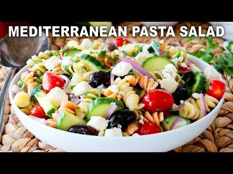 Mediterranean Pasta Salad Recipe | Greek Pasta Salad
