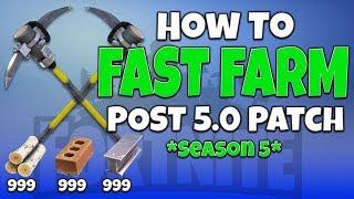 'FORTNITE' FAST FARMING GLITCH [Post 5.0 Patch] SEASON 5