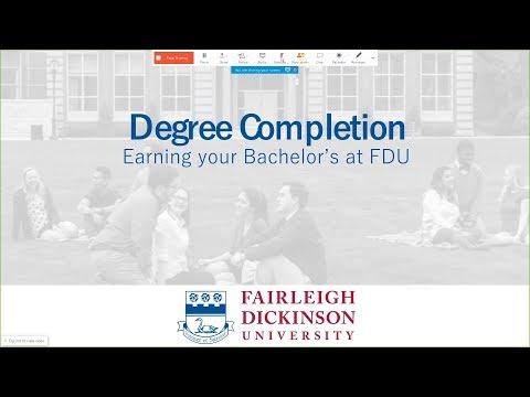 FDU's Degree Completion Programs in New Jersey - Webinar