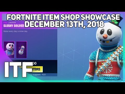 Fortnite Item Shop *NEW* SLUSHY SOLDIER SKIN! [December 13th, 2018] (Fortnite Battle Royale)