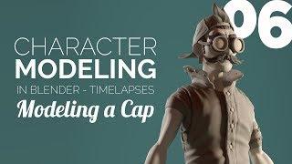 Character Modeling in Blender - 06 Modeling a Cap