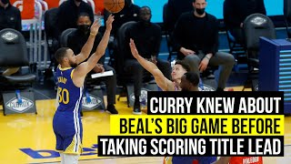 Curry knew about Beal's 50 before big game to take scoring lead