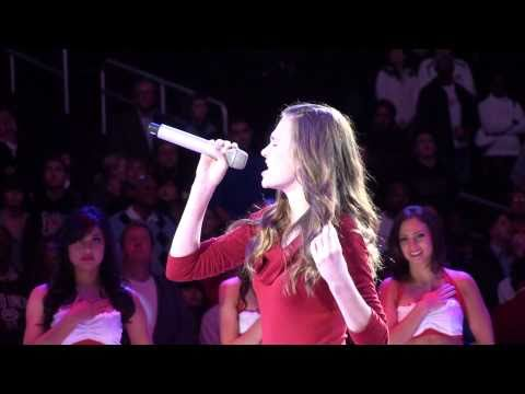 Keely Marshall National Anthem - Los Angeles Clippers game