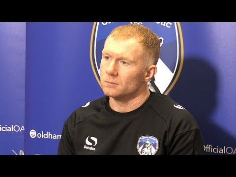 Paul Scholes Pre-Match Presser - Oldham v Crewe - Pays Tribute To Class Of 92 Mentor Eric Harrison