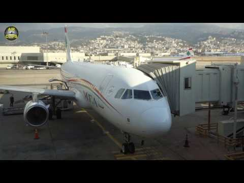 Cross-Syria (2016) MEA A320 Business Class Beirut to Amman [AirClips full flight series]