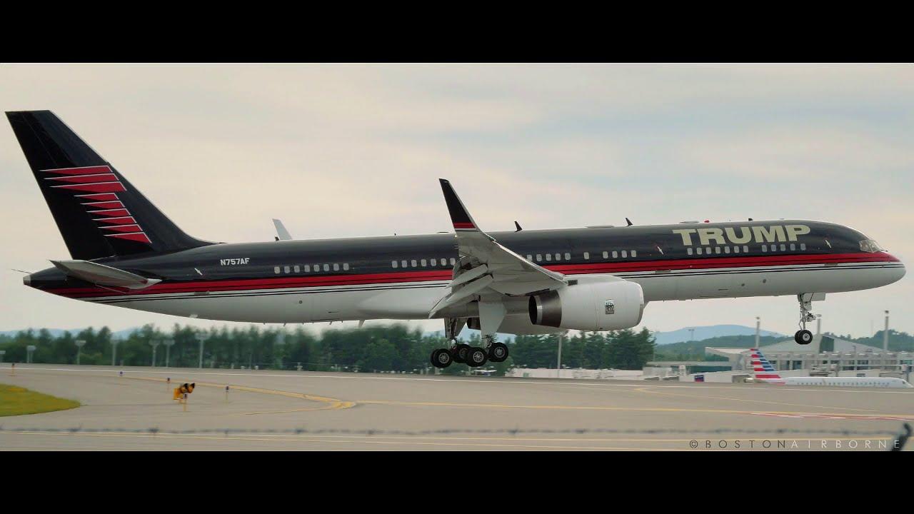 donald trump s jet b757 200 n757af youtube