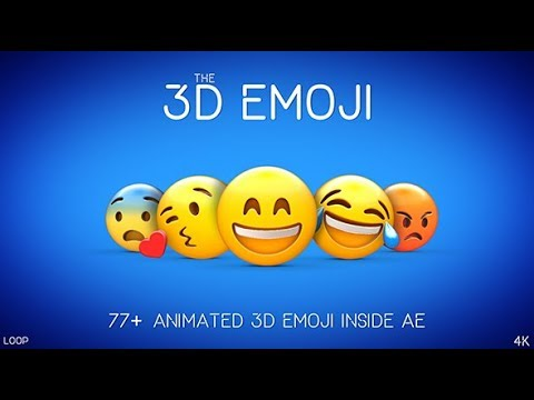 3d Emoji After Effects Template Youtube