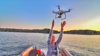 CATCH LANDING THE DRONE ON A BOAT (DJI Phantom 4)