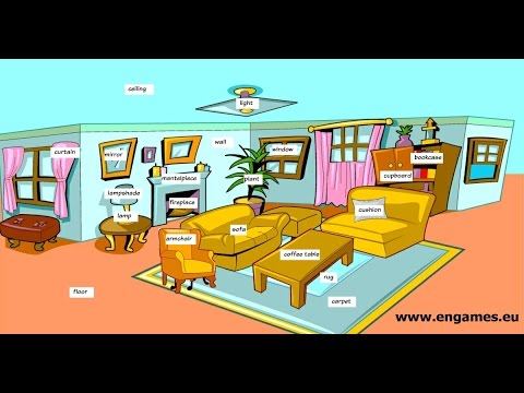 Living room furniture vocabulary - Learn English vocabulary