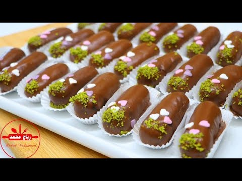 طريقة عمل حلوى أصابع الشوكولا الشهية