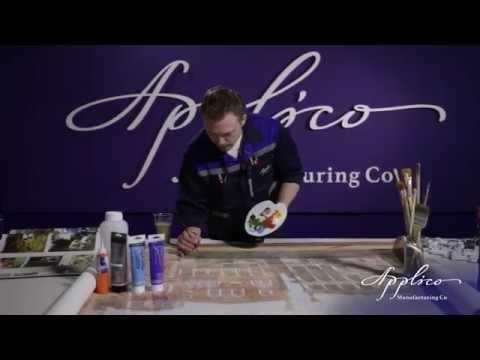 Этапы производства продукции Апплико. Фрески, фотообои и панно.