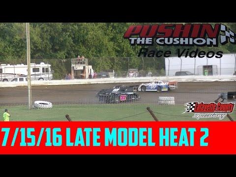 Lafayette County Speedway 7/15/16 Late Model Heat 2
