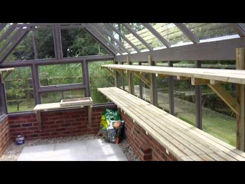 Bespoke timber greenhouse