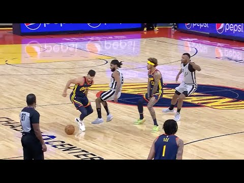Stephen Curry Cooks Patty Mills and Spurs Defenders On Two Different Plays