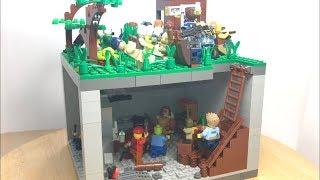 "Лего самоделка #59 на тему зомби апокалипсис ""бункер от зомби"""