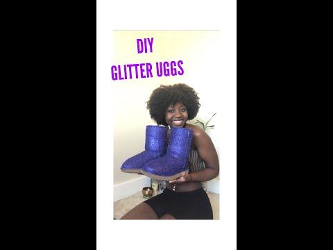 DIY: GLITTER UGGS