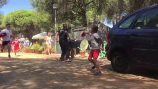 San Fermines en el camping la Giralda de Isla Cristina