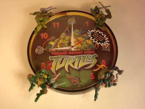 Ninja Turtles Talking Wall Clock Wmv Youtube