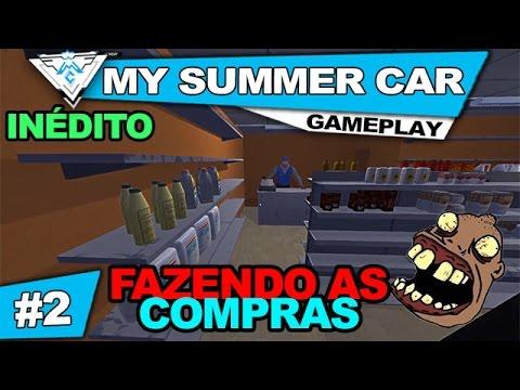MY SUMMER CAR COOP #2 -FAZENDO AS COMPRAS NA CIDADE! / 1080p PT-BR