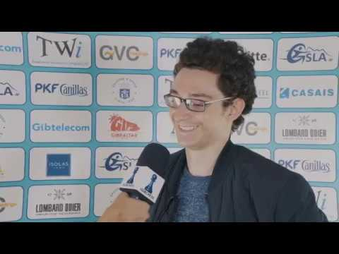 Round 9 Gibraltar Chess post-game interview with Fabiano Caruana