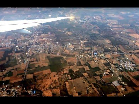 BANGALORE AIRPORT | ബാംഗ്ലൂർ എയർപോർട്ട് | FLIGHT LANDING |ARIEL VIEW