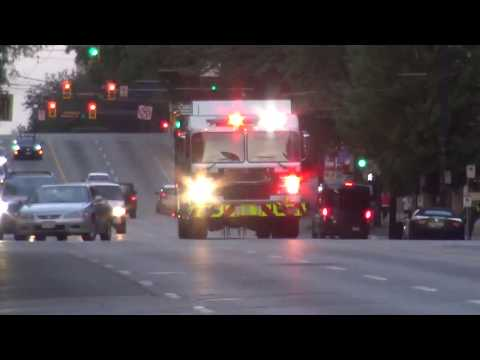 Vancouver Fire & Rescue Services - Rescue Engine 7 Responding