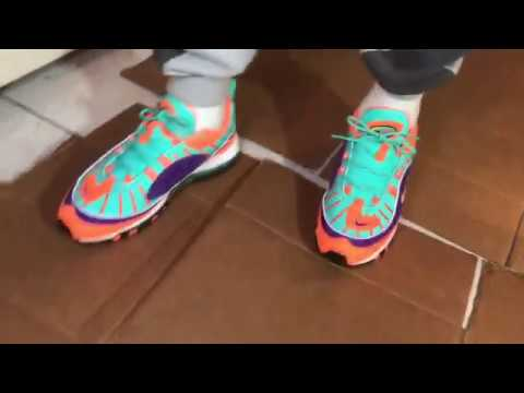 new style c6d24 27ae3 Nike Air Max 98 Cone(On Feet Action)