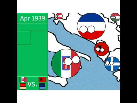 Italian Invasion of Albania in Countryballs