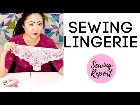 Sewing LINGERIE | Evie La Luve Bella Lace Panties SEW ALONG | SEWING REPORT