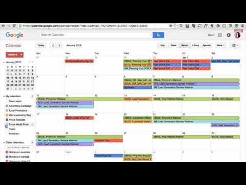 How To Create A Marketing Calendar For 2016 - Youtube