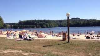 Beach at Lac de Saint Pardoux, August 2013 - La Maison de Cromac