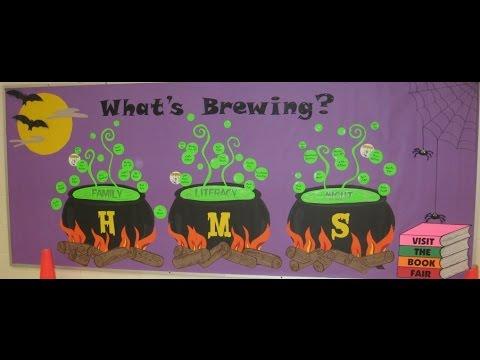 Halloween Bulletin Board Ideas... Very Spooky ! - YouTube