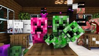 Monster School : HEROBRINE BABY BREIWNG CHALLENGE - Minecraft Animation