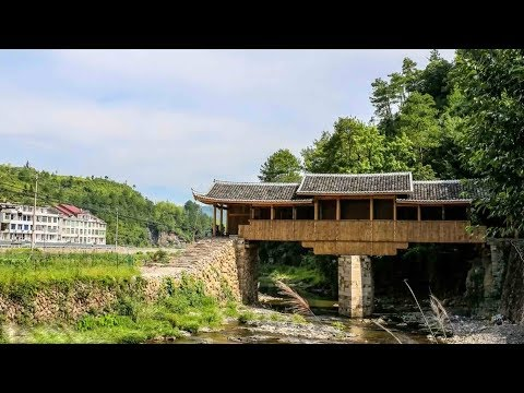 Download Youtube: Time-lapse: Remarkable timber arch lounge bridges rebuilt in E China