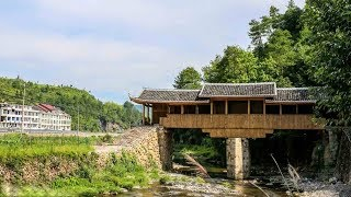 Time-lapse: Remarkable timber arch lounge bridges rebuilt in E China