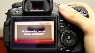 Fix - Movie Recording Has Been Stopped Automatically