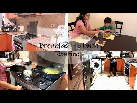 Indian Mom Breakfast To Lunch Routine / Morning Kitchen cleaning Routine /Indian Vlogger Priyanka
