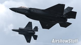 F-35 Lightning II Low Approaches and Arrival - EAA AirVenture Oshkosh 2015