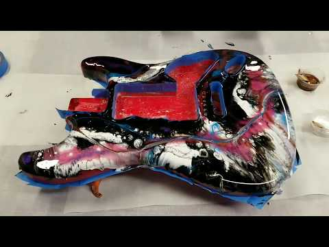 Resin Painting an Electric Guitar - Part 1