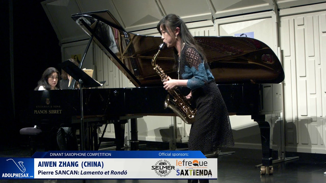 Aiwen Zhang (China) -Lamento et Rondó by Pierre Sancan (Dinant 2019)