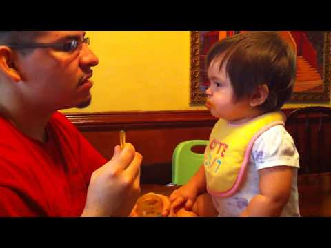 Baby says 'Daddy' on Daddy's Birthday