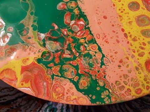 Fluid Art Acrylic puddle Pour Painting  ' Agate '   Stuart Wimbles   Free Your Mind Art