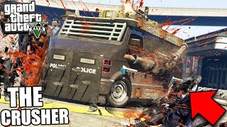 GTA 5 ZOMBIE MOD: THE CRUSHER vs 1,000 ZOMBIES (GTA 5 Mods)